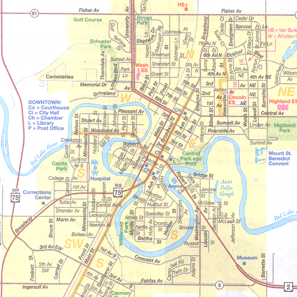 map of crookston