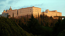 Side view of Monte Cassino